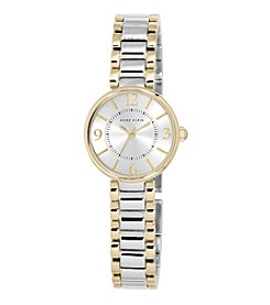 Anne Klein® Two-Tone Sunray Bracelet Watch