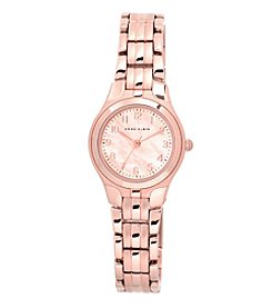 Anne Klein® Rose Goldtone Modern Link Watch