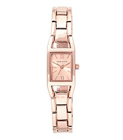 Anne Klein® Rectangular Case with Simple Bracelet Watch
