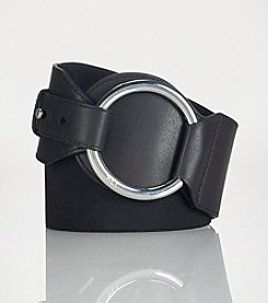 Lauren Ralph Lauren Stretch O Ring Buckle Belt
