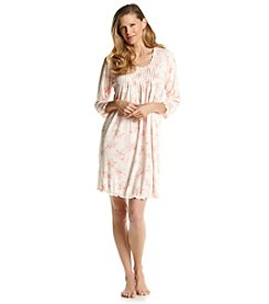 Miss Elaine® Peach Floral Sleep Gown