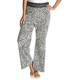 Chanteuse® Plus Size Animal Print Knit Pants