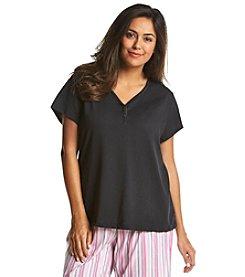KN Karen Neuburger Plus Size Henley Shirt