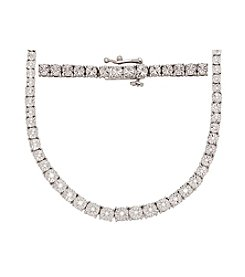 0.50 ct. t.w. Diamond Tennis Necklace in Sterling Silver