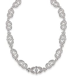 Carolee® The Amber Crystal Silvertone Choker Necklace
