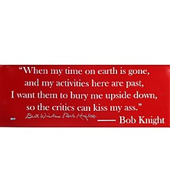 Steiner Sports Memorabilia Men's Bob Knight Panoramic Quote
