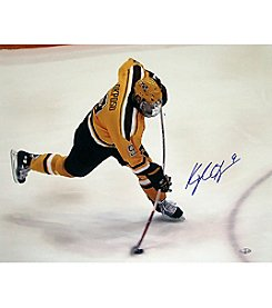 University of Minnesota Kyle Okposo Bent Stick Slap Shot Photo