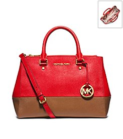 MICHAEL Michael Kors® Sutton Bicolor Saffiano Leather Medium Satchel