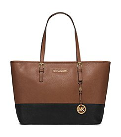 MICHAEL Michael Kors® Jet Set Travel Color-Block Saffiano Leather Tote