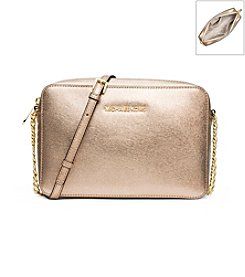 MICHAEL Michael Kors® Jet Set Travel Metallic Leather Crossbody