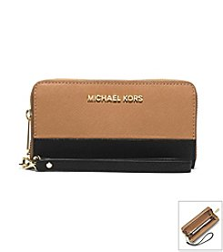 MICHAEL Michael Kors® Jet Set Travel Saffiano Leather Large Phone Wristlet