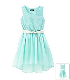Amy Byer Girls' 7-16 Mint Dress With Belt