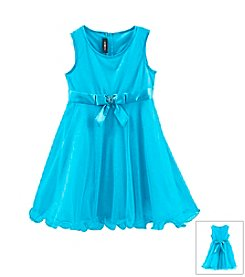 Amy Byer Girls' 7-16 Glitter Dress With Bow