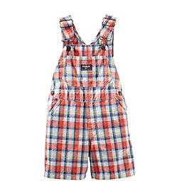 OshKosh B'Gosh® Baby Boys' Plaid Canvas Shortalls