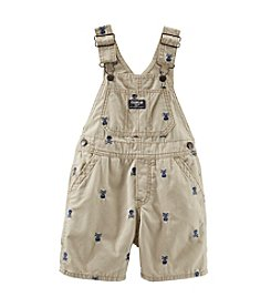 OshKosh B'Gosh® Baby Boys' Schiffli Canvas Shortalls