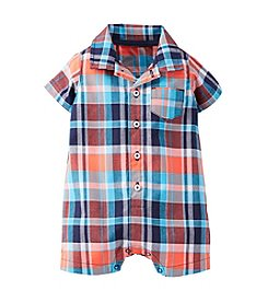 Carter's® Baby Boys' Cotton Plaid Romper
