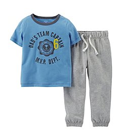 Carter's® Baby Boys' Dads Team Shirt With Sweatpants Set