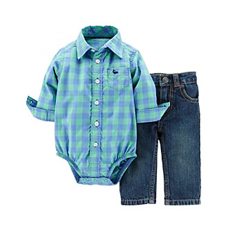 69afb0506 UPC 888510427520 product image for Carter's® Baby Boys' 2-Piece Bodysuit &  Denim ...