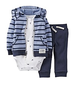 Carter's® Baby Boys' 3-Piece French Terry Cardigan & Pants Set