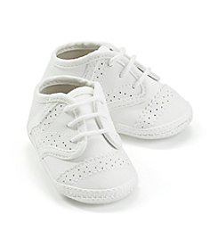 Cuddle Bear® Baby Girls' White Saddle Oxford