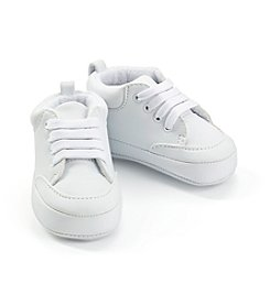 Cuddle Bear® Baby Boys' Hightop White Sneakers
