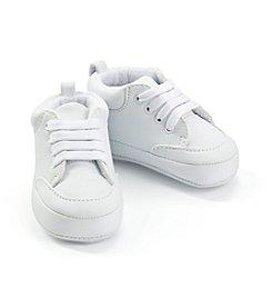 Cuddle Bear® Baby Boys' Hightop White Sneakers