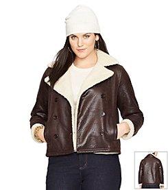 Lauren Ralph Lauren® Plus Size Faux-Sherpa Jacket