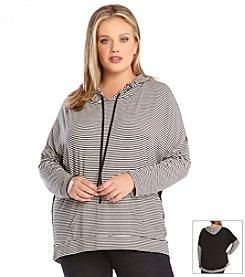 Karen Kane® Plus Size Contrast Back Hoodie