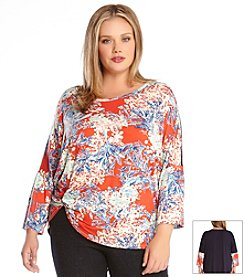 Karen Kane® Plus Size Tropical Pick Up Top