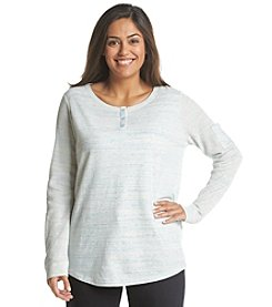 Jones New York Sport® Plus Size Long Sleeve Henley