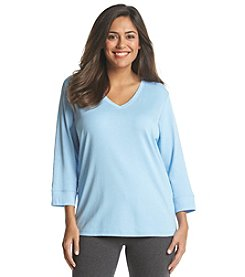 Jones New York Sport® Plus Size 3/4 Sleeve V Neck