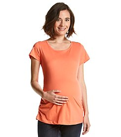 Three Seasons Maternity™ Scoopneck Side Shirred Solid Tee