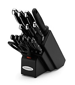 Farberware® 15-pc. Black Forged Cutlery Set