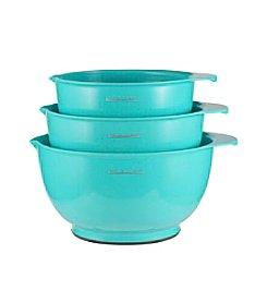 KitchenAid® 3-pc. Turquoise Mixing Bowls