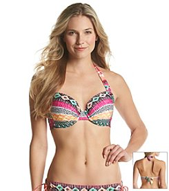 Kenneth Cole REACTION® Get Rio Stripe D-Cup Underwire Bikini Top