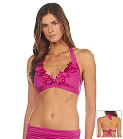 Kenneth Cole® Sassyfrass Banded Halter Bikini Top