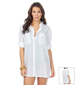 Lauren Ralph Lauren® Crushed Camp Cover Up Shirt