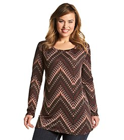 Living Doll® Plus Size Blurred Chevron Top