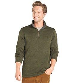 Bass® Men's Long Sleeve Fleece Quarter Zip Pullover