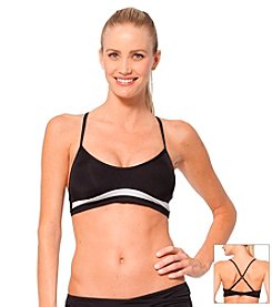 Anne Cole® Athletic Colorblock Cross Back Bikini Top
