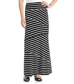 AGB® Knit Stripe Maxi Skirt