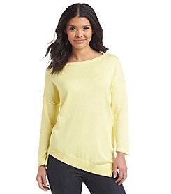 August Silk® Asymmetrical 3/4 Sleeve Sweater