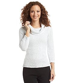 Evan Picone® Three-Quarter Sleeve Cowl Neck Sweater