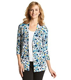 Laura Ashley® Shadow Floral Print Cardigan