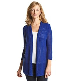 Laura Ashley® Open Stitch Cardigan