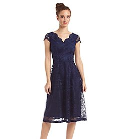 London Times® Scallop Lace Dress