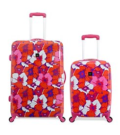French West Indies Pop Flower Hardside Spinner Luggage Collection
