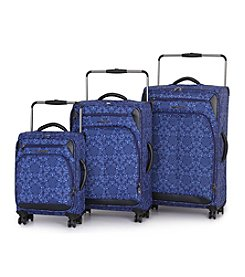 IT Luggage World's Lightest® Premium Blue Tile Mosaic Luggage Collection
