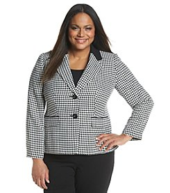 Kasper® Houndstooth Two Button Front Blazer