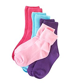 Little Miss Attitude Girls' Pastel Turn Cuff Socks Pack